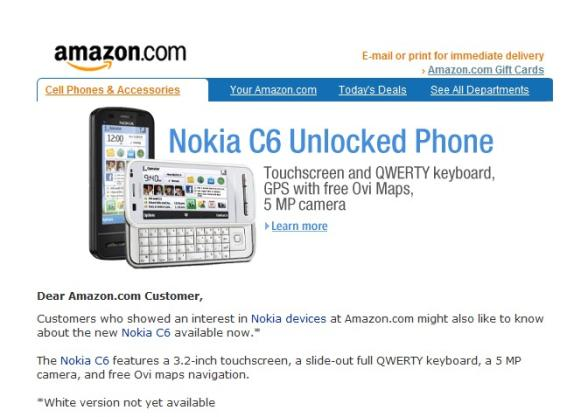nokia c6 usa amazon