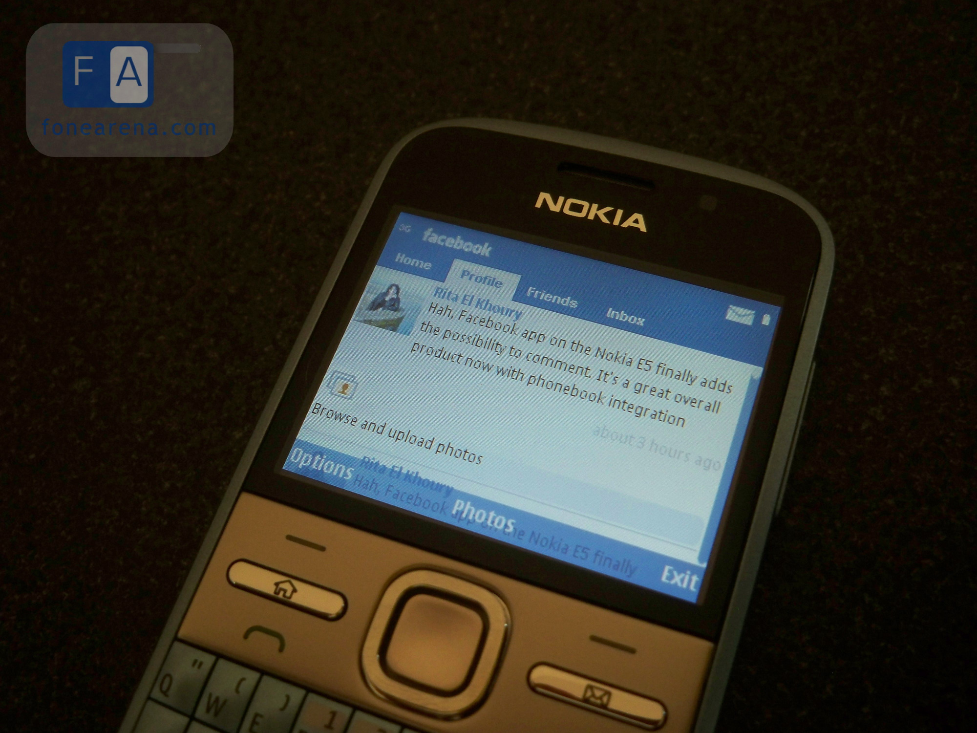 Facebook app for nokia e5 00